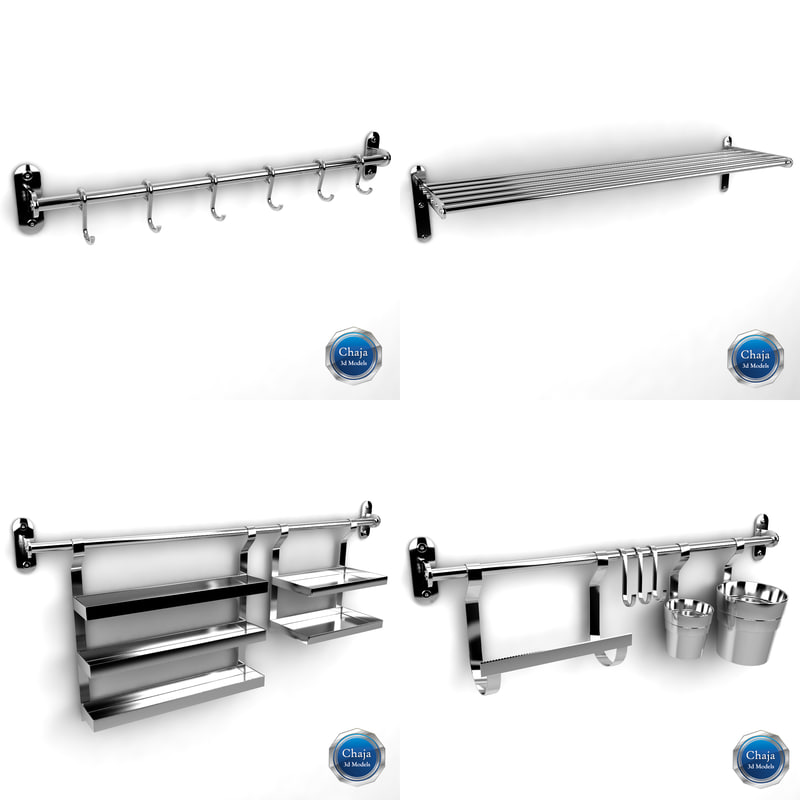 3ds max kitchen rack