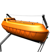 3dsmax life lifeboat boat