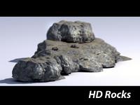 3d rocks hd model
