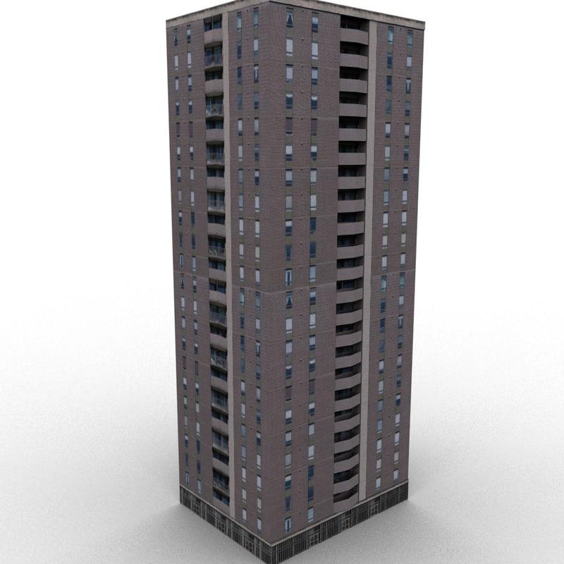 skyscraper house 3d model