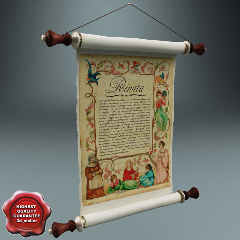 3ds max ancient scroll