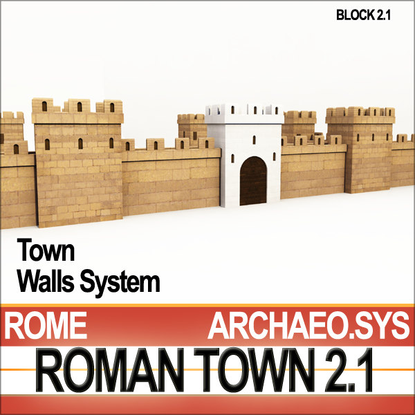 ancient roman town walls 3ds