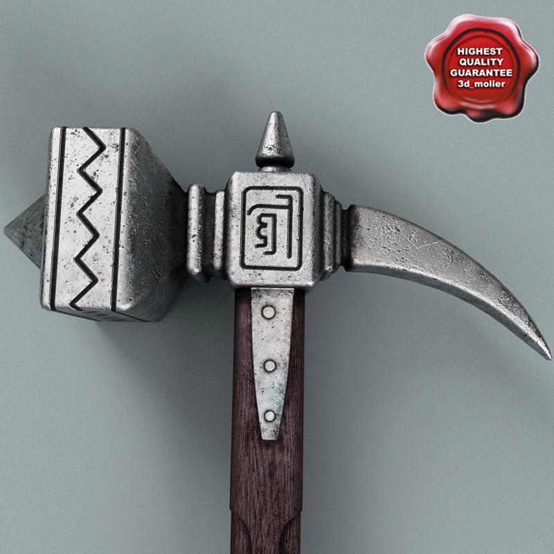 3d battle hammer model