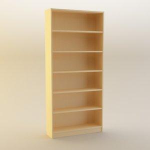 3d ikea billy bookcase
