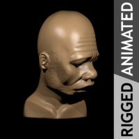 rigged african male animation 3d obj