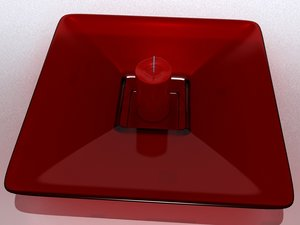 3d candle plate