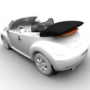 3d model volkswagen beetle convertible accessories