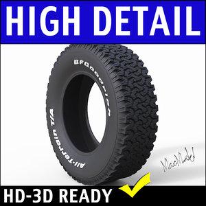 3d model tire terrain ta