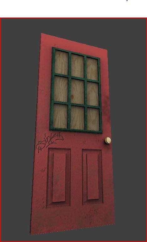 metal door 3d obj
