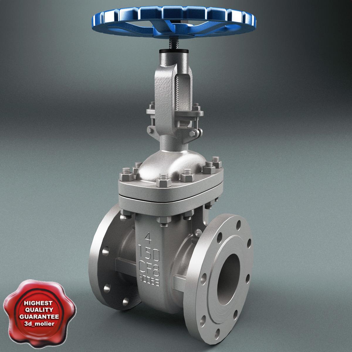 gate valve v3 3d model
