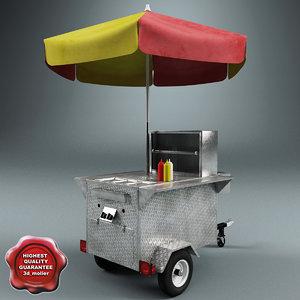 3d hot dog cart v2 model