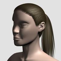hair character mesh 3d model