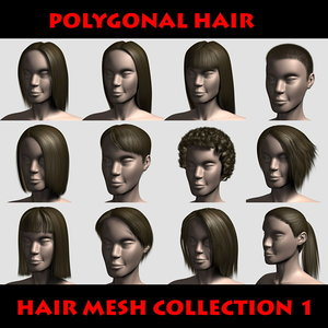3ds max hairs character mesh