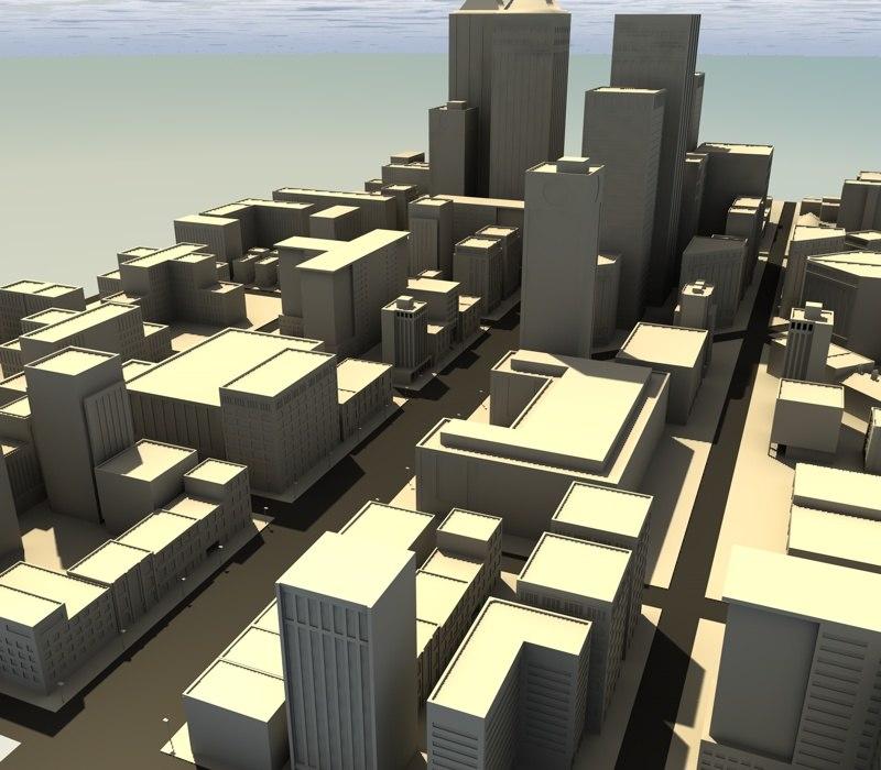 city town street 3d 3ds