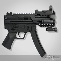 submachine gun mp5 3d model