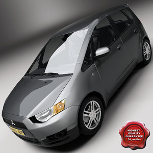 3d model of mitsubishi colt 5d 2009