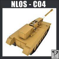 3d model non line sight cannon