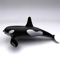 3d orca whale model
