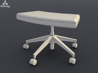 Open mind Ottoman with height-adjustable (from 380 to 500 mm) and pivoting leg rest (size 630-330 mm)