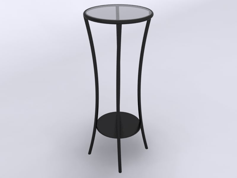 pedestal table 3d model