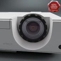 3d model projector mitsubishi xd221u st