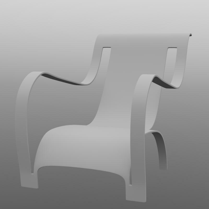 piece chair c4d