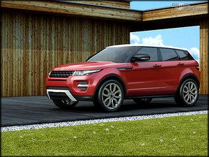 range rover evoque 3ds