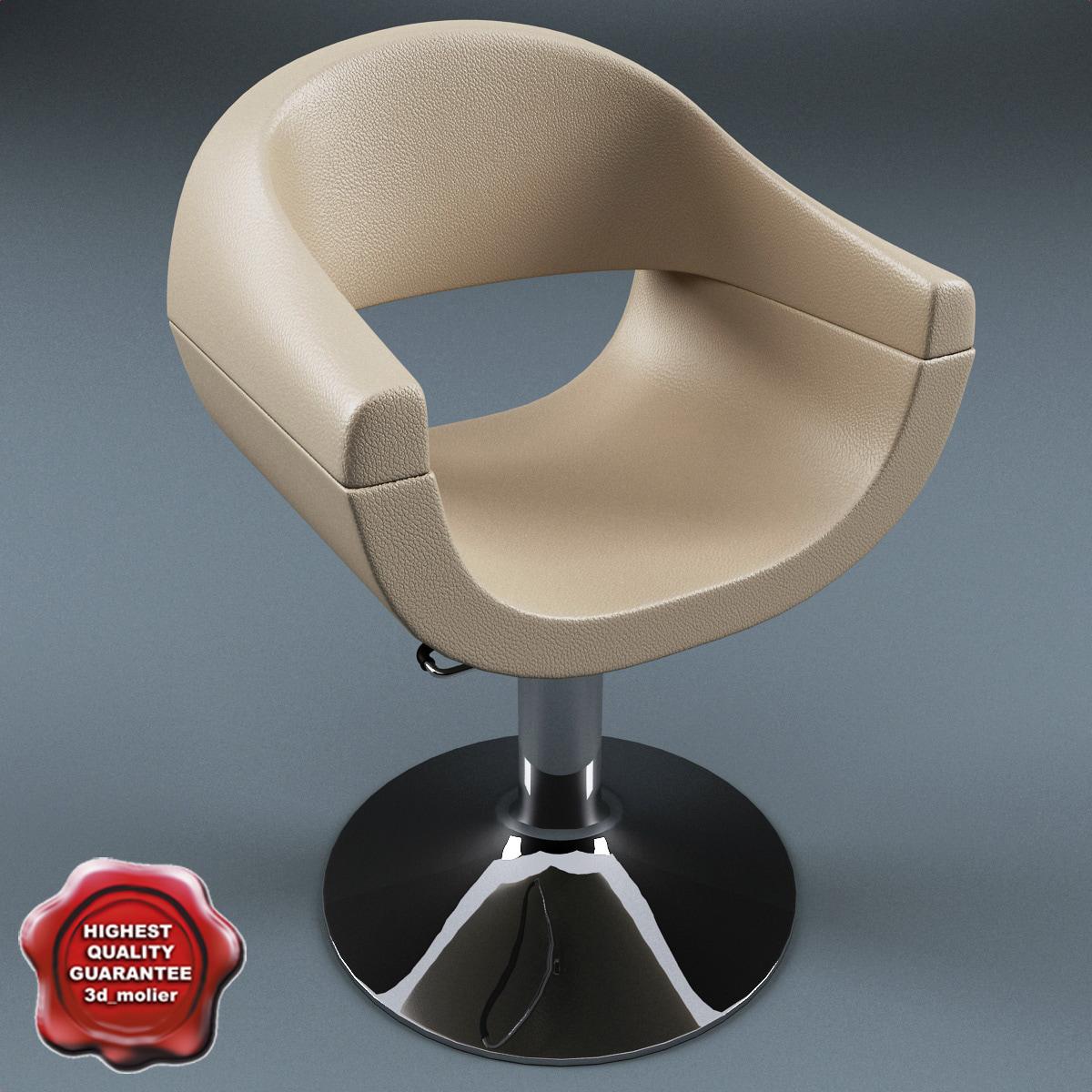 salon chair v3 3d 3ds