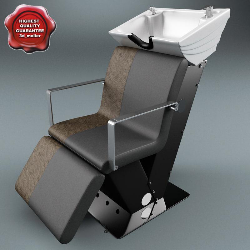 3d model salon wash point v2
