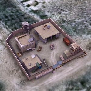 3d afghan police compound base model