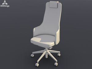 3d model conference chair silent rush