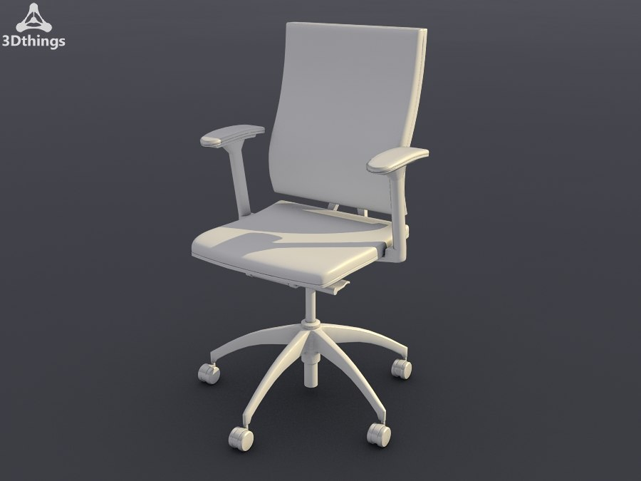 3d conference chair open swivel