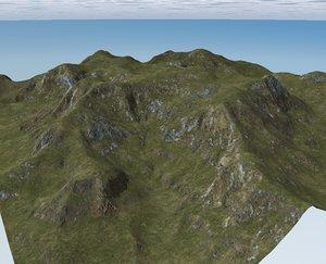 terrain landscape mountains obj