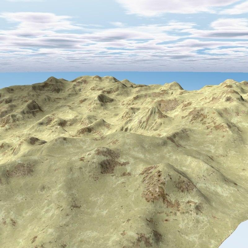 c4d terrain landscape mountains environment