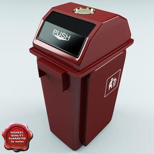 trash red plastic 3d model