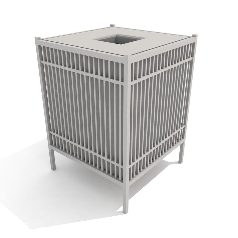 3d trash receptacle grill