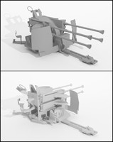 3ds max wwii stationary weapon