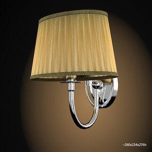 3d wall lamp devon model