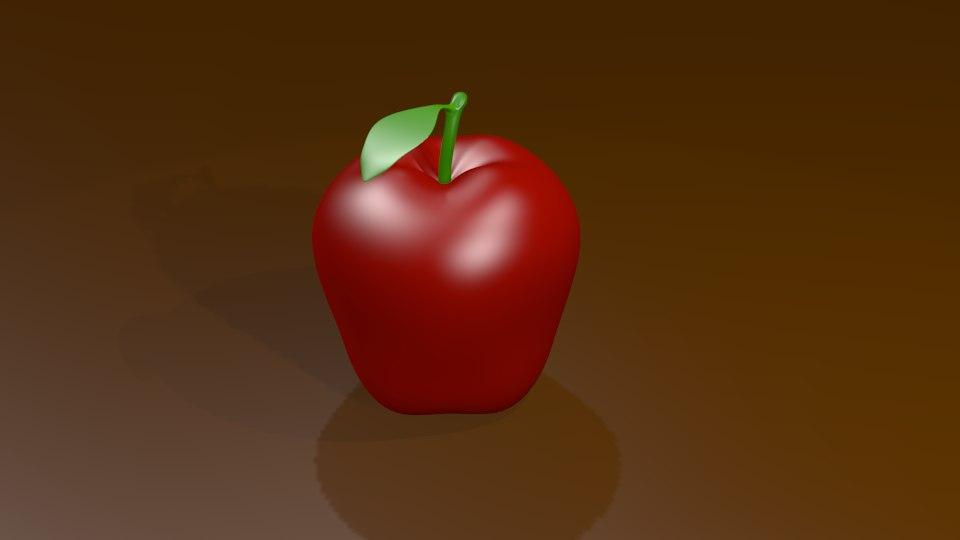 red apple 3d model
