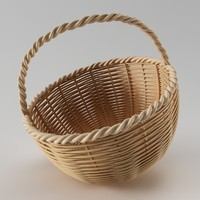 wood basket 3d model