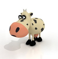 Cartoon Cow - RIGGED