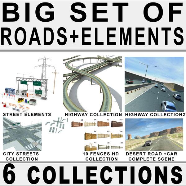 3d roads big highway