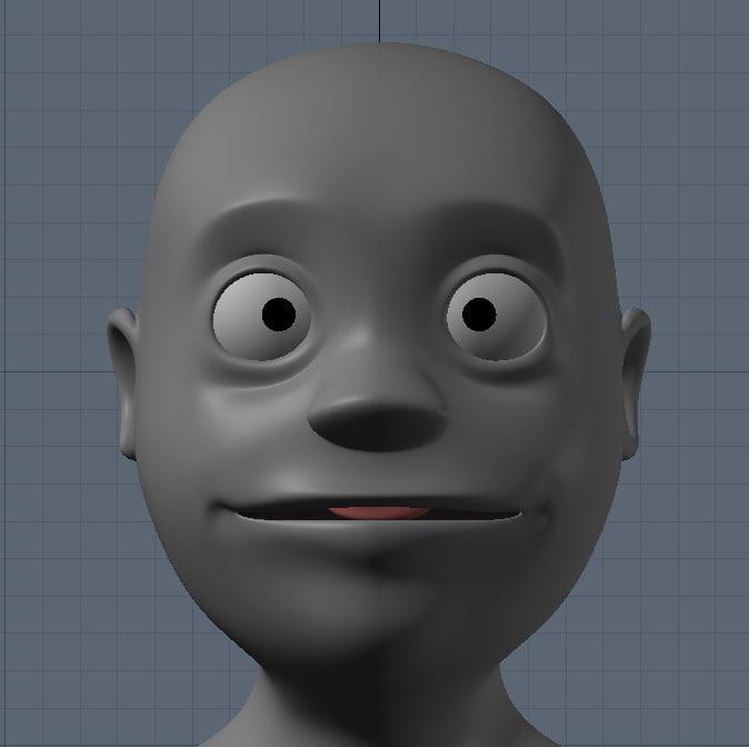 3d obj cartoon character