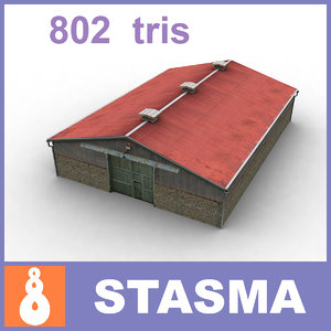 3d farm shed
