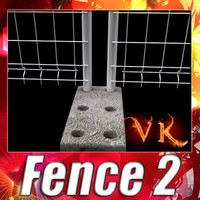 3d model fence 02
