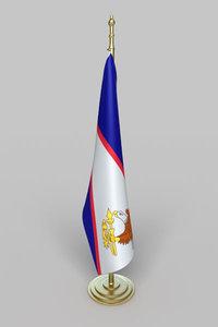 flag american samoa 3d max