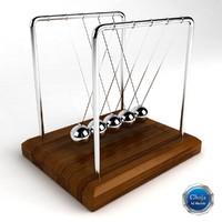 3d model kinetic sculpture desk