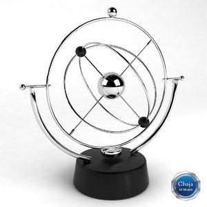 kinetic sculpture desk 3d model