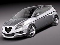 3d c4d lancia delta 2012 car