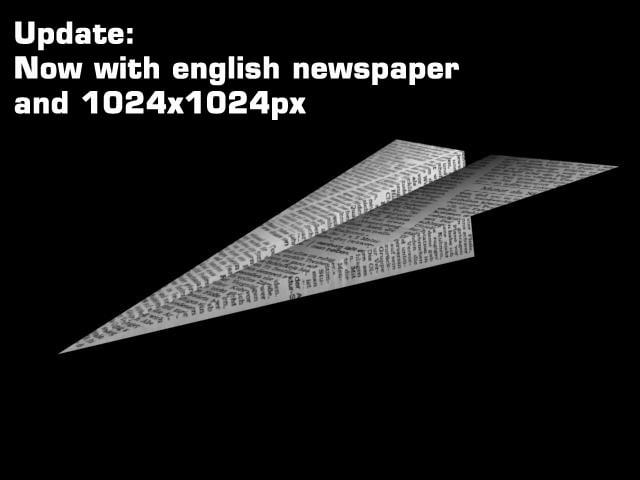paper plane 3d 3ds